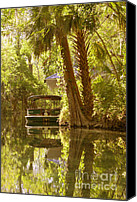 Wetlands Canvas Prints - Silver Springs Glass Bottom Boats Canvas Print by Christine Till