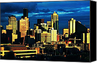 Seattle Skyline Canvas Prints - Skyline Colors Canvas Print by Benjamin Yeager