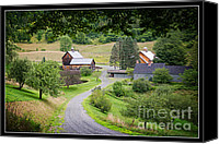 Sleepy Hollow Canvas Prints - Sleepy Hollow Farm Woodstock Vermont Canvas Print by Edward Fielding