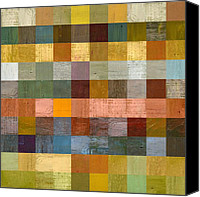 Fences Canvas Prints - Soft Palette Rustic Wood Series lV  Canvas Print by Michelle Calkins