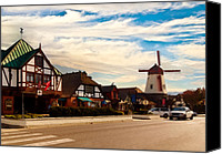 Picturesque Mixed Media Canvas Prints - Solvang California Canvas Print by Nadine Johnston