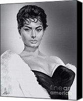 Silver Screen Actress Canvas Prints - Sophia - Still Untouched  Canvas Print by Reggie Duffie