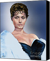 Silver Screen Actress Canvas Prints - Sophia - Total Package Canvas Print by Reggie Duffie
