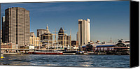 South Street Seaport Canvas Prints - South Street Seaport Canvas Print by David Hahn