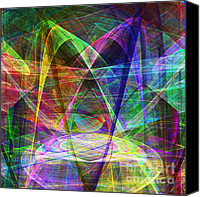 Psychedelic Space Art Canvas Prints - Space Odyssey 20130511 Canvas Print by Wingsdomain Art and Photography