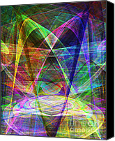 Psychedelic Space Art Canvas Prints - Space Odyssey 20130511v2 Canvas Print by Wingsdomain Art and Photography
