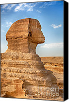 Desert Canvas Prints - Sphinx profile Canvas Print by Jane Rix