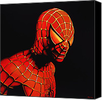 Avengers Canvas Prints - Spider-man Canvas Print by Paul Meijering