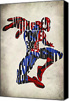 Spider Canvas Prints - Spider-Man - Peter Parker Canvas Print by Ayse Toyran