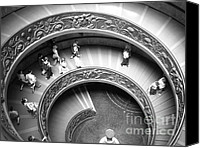 Staircase Special Promotions - Spiral Staircase Canvas Print by Barbara Bardzik