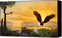 Swamp Canvas Prints - Spirit of the Everglades Canvas Print by Jerry LoFaro