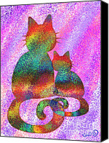 Nick Gustafson Canvas Prints - Splatter Cats 2 Canvas Print by Nick Gustafson