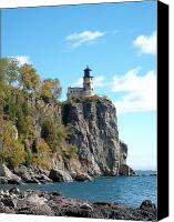 Fall Photo Special Promotions - Splitrock lighthouse 1 Canvas Print by Joshua Thompson