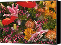 Garden Flowers Special Promotions - Spring Flower Bouquet Greeting Card Canvas Print by Joseph Baril