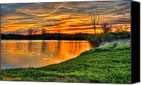 Ken Williams Canvas Prints - Spring sunset Canvas Print by Ken Williams