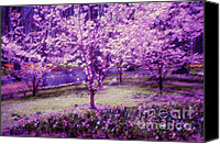 Jenny Rainbow Canvas Prints - Spring Wonderland Pastel. Garden Keukenhof. Netherlands Canvas Print by Jenny Rainbow