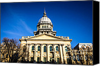 Landmarks Canvas Prints - Springfield Illinois State Capitol Building Canvas Print by Paul Velgos