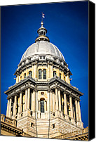 Landmarks Canvas Prints - Springfield Illinois State Capitol Dome Canvas Print by Paul Velgos
