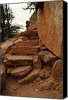 Southern Utah Canvas Prints - Stairs In The Desert Canvas Print by Jeff  Swan