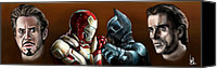 Ironman Canvas Prints - Stark Industries vs Wayne Enterprises Canvas Print by Vinny John