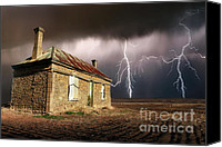 Ruin Special Promotions - Storm Over Ruin Canvas Print by Shannon Rogers