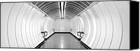 Subway Station Photo Canvas Prints - Subway Symmetry Canvas Print by Marc Huebner