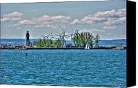 Lighthouse Canvas Prints - Summer Breeze from Lasalle Park Canvas Print by Michael Frank Jr