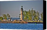 Lighthouse Canvas Prints - Summer Day View of the Lighthouse  Canvas Print by Michael Frank Jr