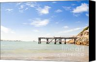 Tim Hester Canvas Prints - Summer Jetty Canvas Print by Tim Hester