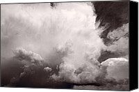 Storm Photo Canvas Prints - Summer Storm Canvas Print by Steve Gadomski