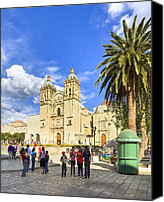 Mark Tisdale Canvas Prints - Sunny Afternoon At The Church of Santo Domingo in Oaxaca Canvas Print by Mark E Tisdale