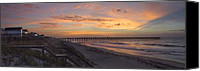 Topsail Canvas Prints - Sunrise on Topsail Island Canvas Print by Mike McGlothlen