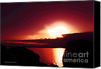 Featured Special Promotions - Sunset at Marina Beach Park in Edmonds Washington Canvas Print by Eddie Eastwood