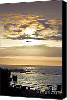 Sennen Canvas Prints - Sunset at the Old Success Inn Canvas Print by Terri  Waters