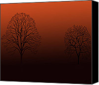 Kate Farrant Canvas Prints - Sunset Trees  Canvas Print by Kate Farrant