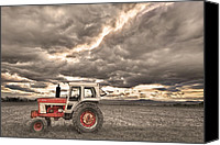 Angry Sky Canvas Prints - Superman Sepia Skies Canvas Print by James Bo Insogna