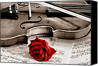 Violin Special Promotions - Sweet Music Canvas Print by Don Schwartz