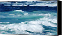 Donna Blackhall Canvas Prints - Swirling Blues Canvas Print by Donna Blackhall