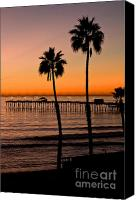 Clemente Canvas Prints - T Street Pier San Clemente California Canvas Print by Laura Wrede