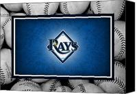 Baseball Canvas Prints - Tampa Bay Rays Canvas Print by Joe Hamilton
