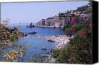 Science Fiction Tapestries Textiles Special Promotions - Taormina Beach Canvas Print by Dany  Lison Photography