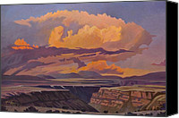 Taos Canvas Prints - Taos Gorge - Pastel Sky Canvas Print by Art West