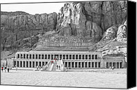 Mountain Sculpture Photo Canvas Prints - Temple of Hatshepsut Canvas Print by Erik Brede
