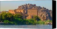 Ruins Special Promotions - Temple of Isis Canvas Print by John Malone