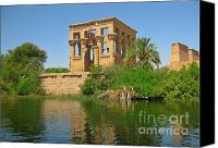 Ruins Special Promotions - Temple of Isis on the Nile Canvas Print by John Malone