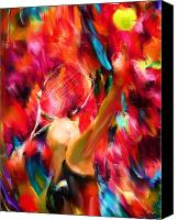 Lourry Legarde Canvas Prints - Tennis I Canvas Print by Lourry Legarde
