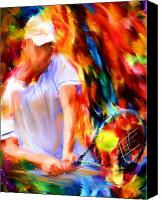 Lourry Legarde Canvas Prints - Tennis II Canvas Print by Lourry Legarde