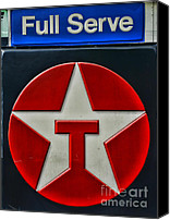 Serve Photo Canvas Prints - Texaco Gas Sign Full Serve Canvas Print by Paul Ward