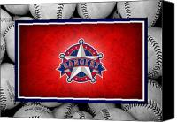 Baseball Canvas Prints - Texas Rangers Canvas Print by Joe Hamilton