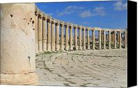 Of Antioch Canvas Prints - The Ancient City of Jerash Canvas Print by Ash Sharesomephotos